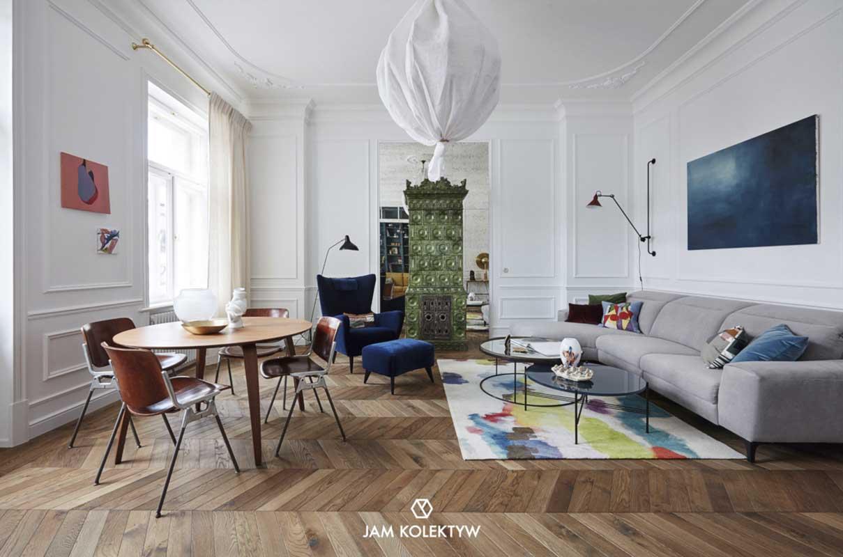 Wnętrze w eklektycznym stylu | Fotografia: Jola Skóra | Stylizacja: Anna Olga Chmielewska | Asystentka stylistki: Małgorzata Moritz