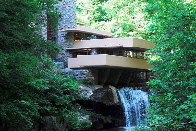 Dom Fallingwater zaprojektowany w 1935 roku