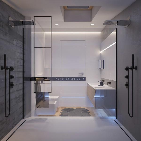 Łazienka wyposażona w produkty Hushlab