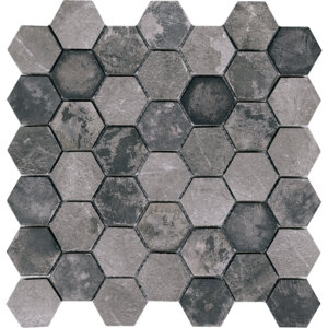 PŁYTKI L'ANTIC PORCELANOSA kolekcja WORN HEXAGON ANTHRACITE
