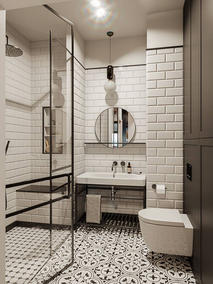 płytki metro w łazience