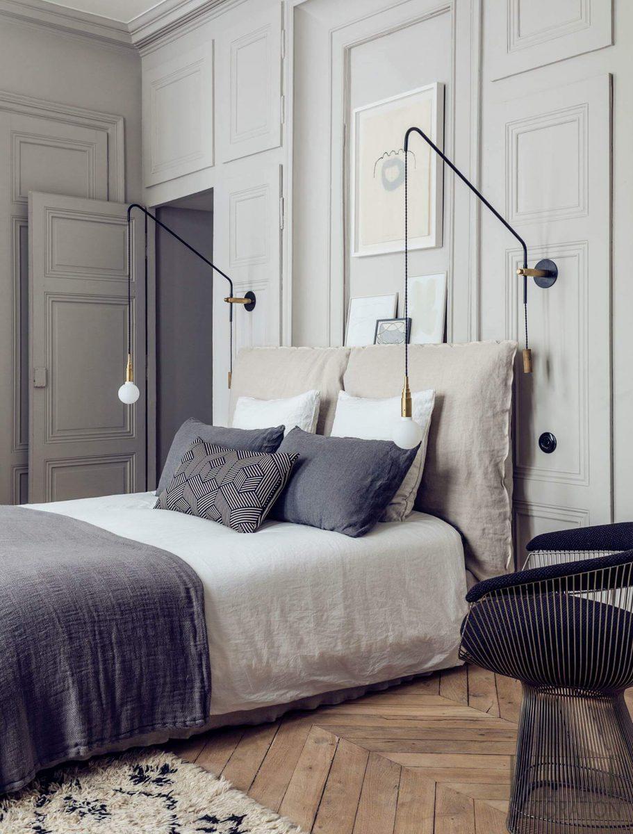 Piękna ściana w stylu art deco w sypialni