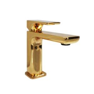 Bateria umywalkowa jednouchwytowa HushLab Belverde, kolor złoty