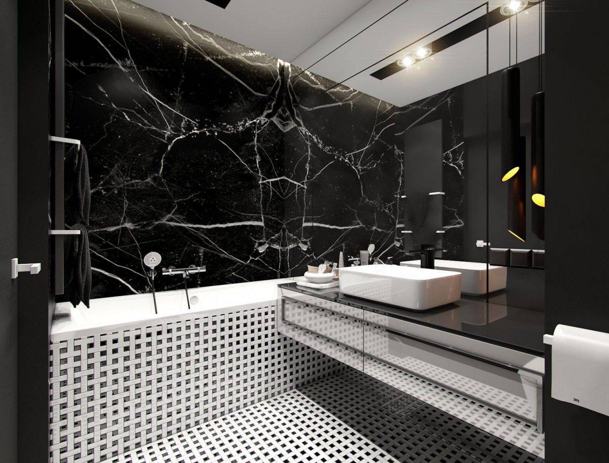 Czarna łazienka Peka Studio