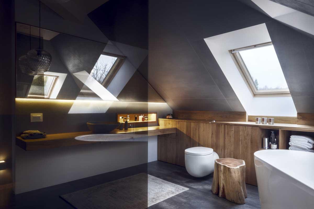 Mana Design łazienka na poddaszu