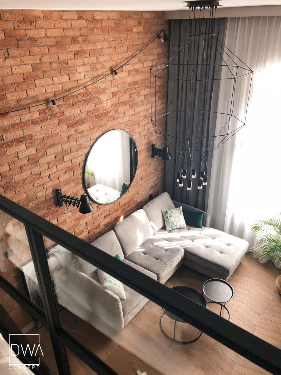 Widok z sypialni na antresoli (Projekt: DWAconcept, zdjęcia : Przemysław Kuciński, niewformie.pl)