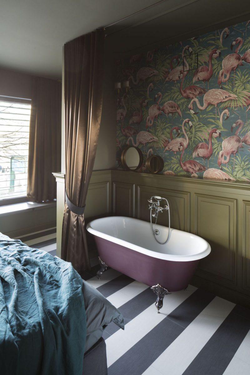 Sypialnia połączona z mini kącikiem spa (źródło: mat. pras. Wnętrza Michała)