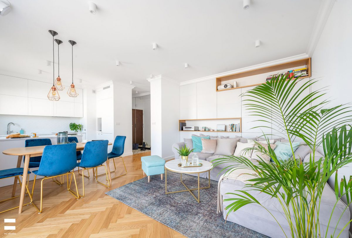 Salon połączony z kuchnia | proj. WZ Studio