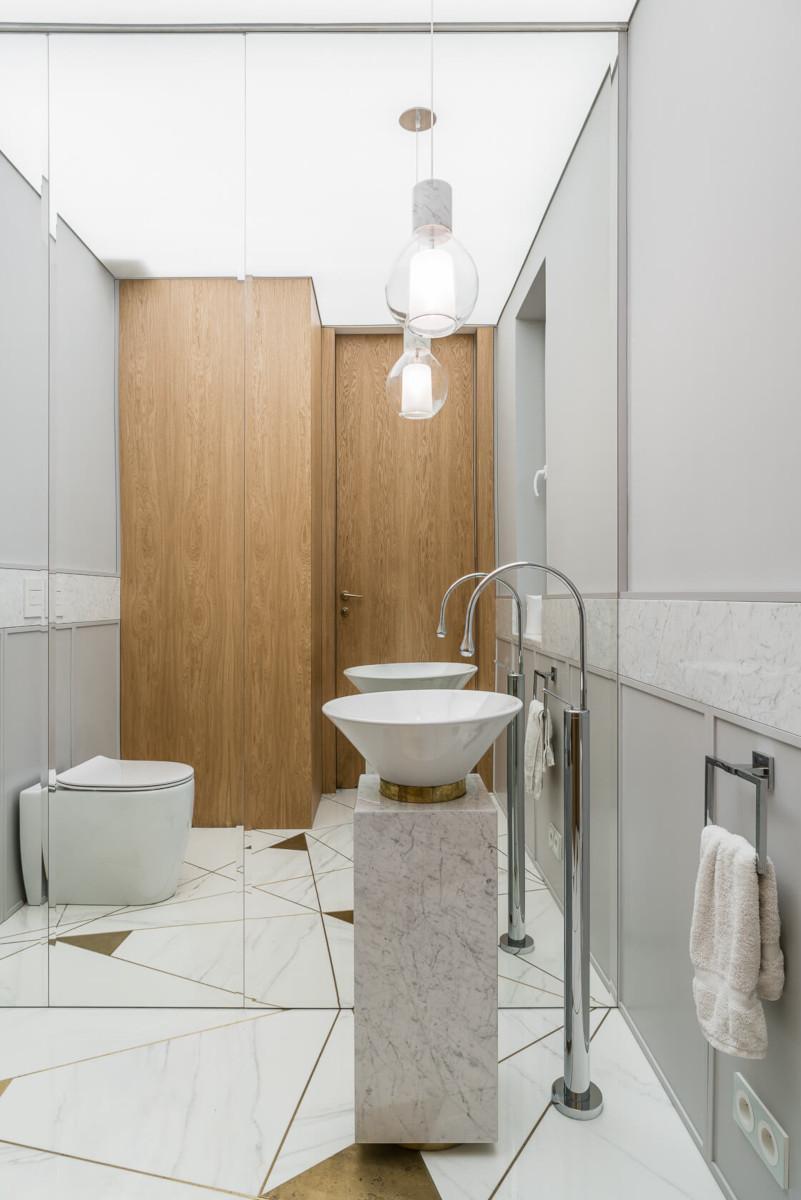 Pomysł na małą łazienkę, proj. Magma, zdj. Fotomohito