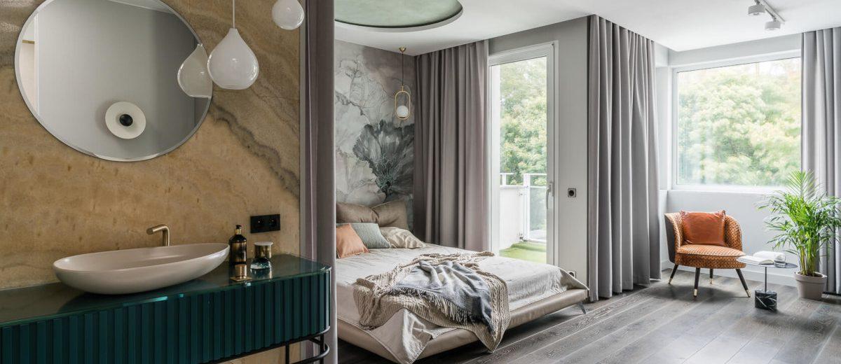 Pomysł na sypialnię (proj. Magma, zdj. Fotomohito)