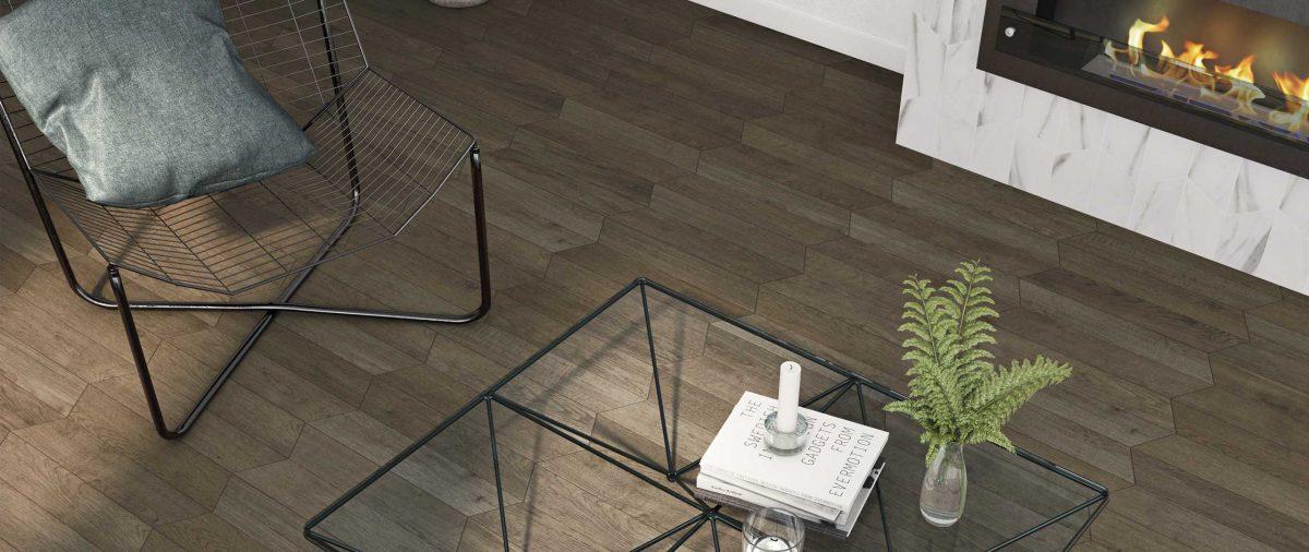 Płytki drewnopodobne z kolekcji 60° marki Wow Design (marka dostępna w naszych showroomach)