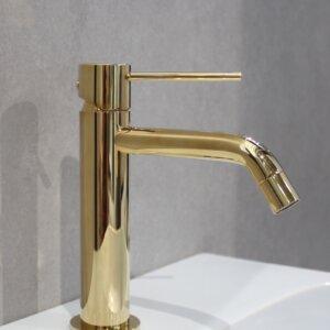 Bateria umywalkowa jednouchwytowa HushLab Siena Gold