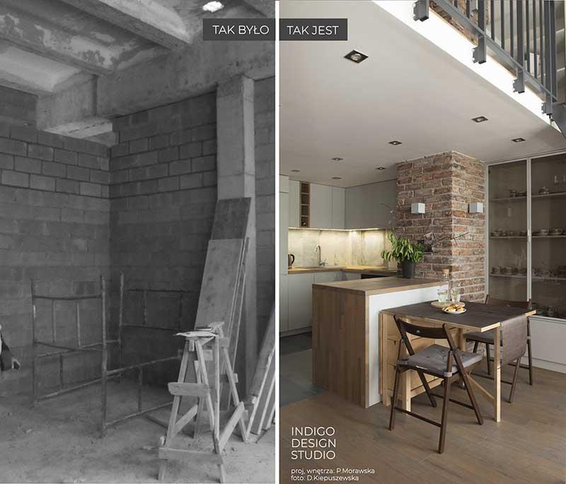 Potencjał pofabrycznej przestrzeni - loftowe wnętrze projekt Indigo Wnętrza