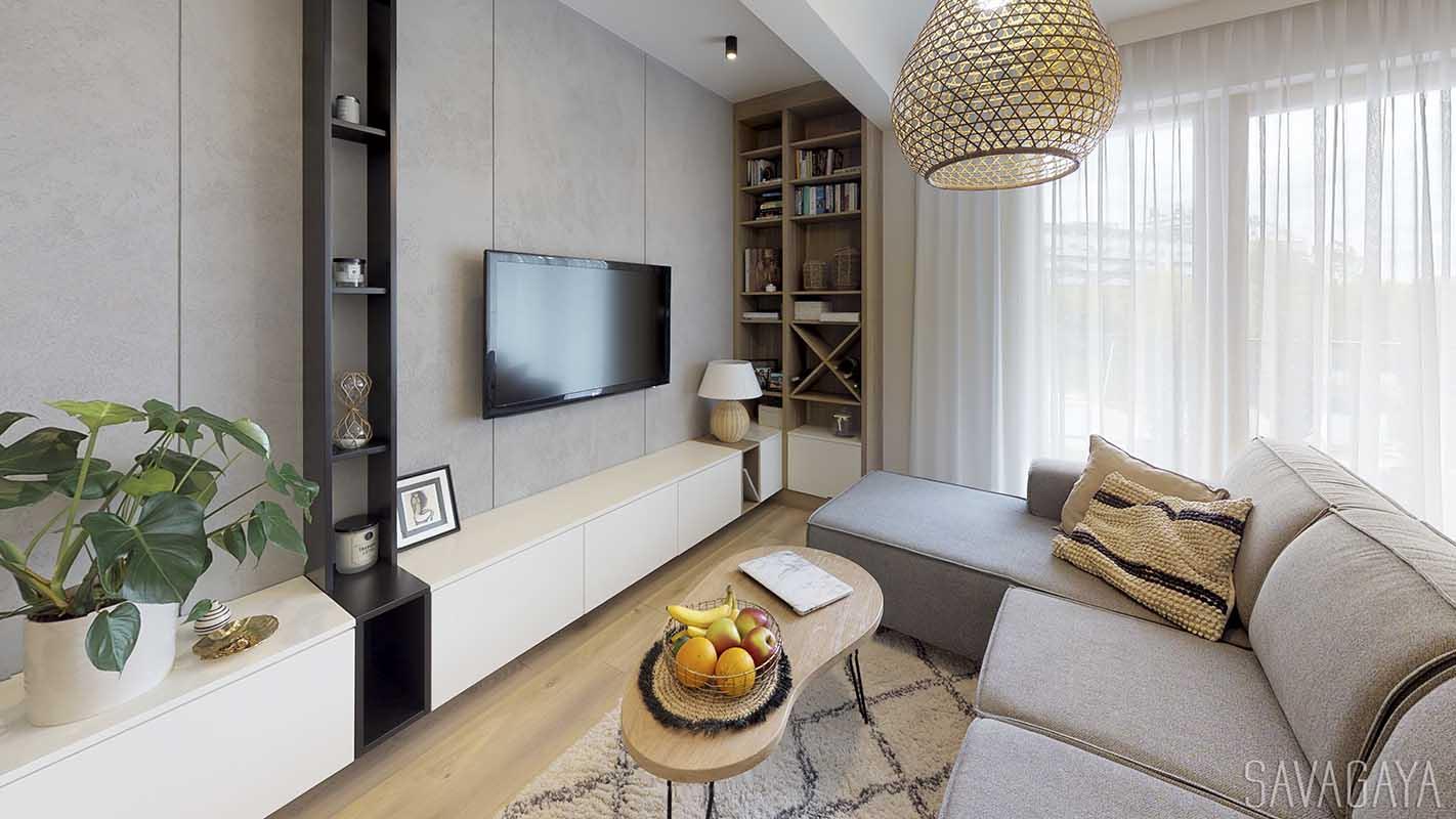 Naturalnie - apartament w stylu boho projekt architekt NATALIA SZYK TROCHA