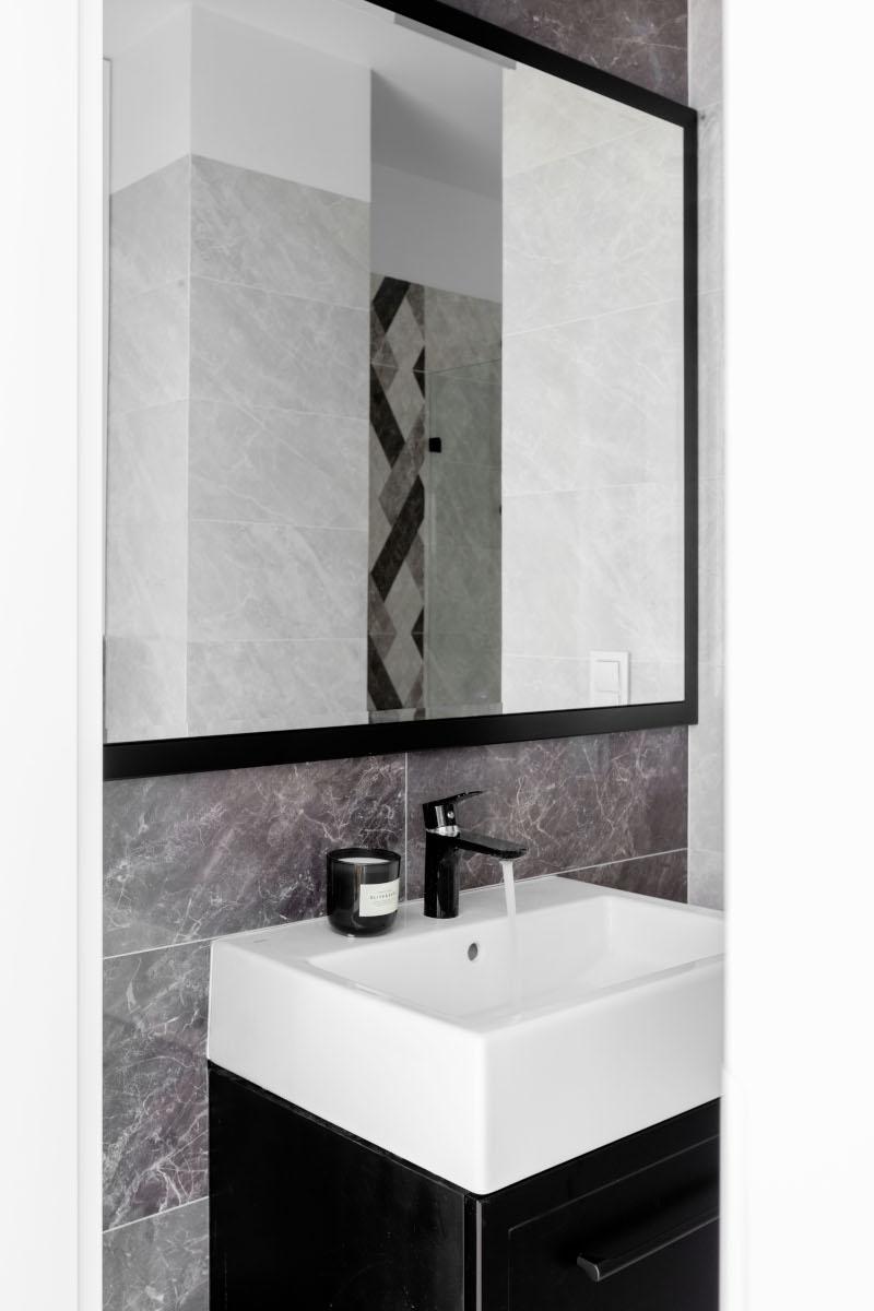 Szara łazienka | proj. Dziurdzia Projekt