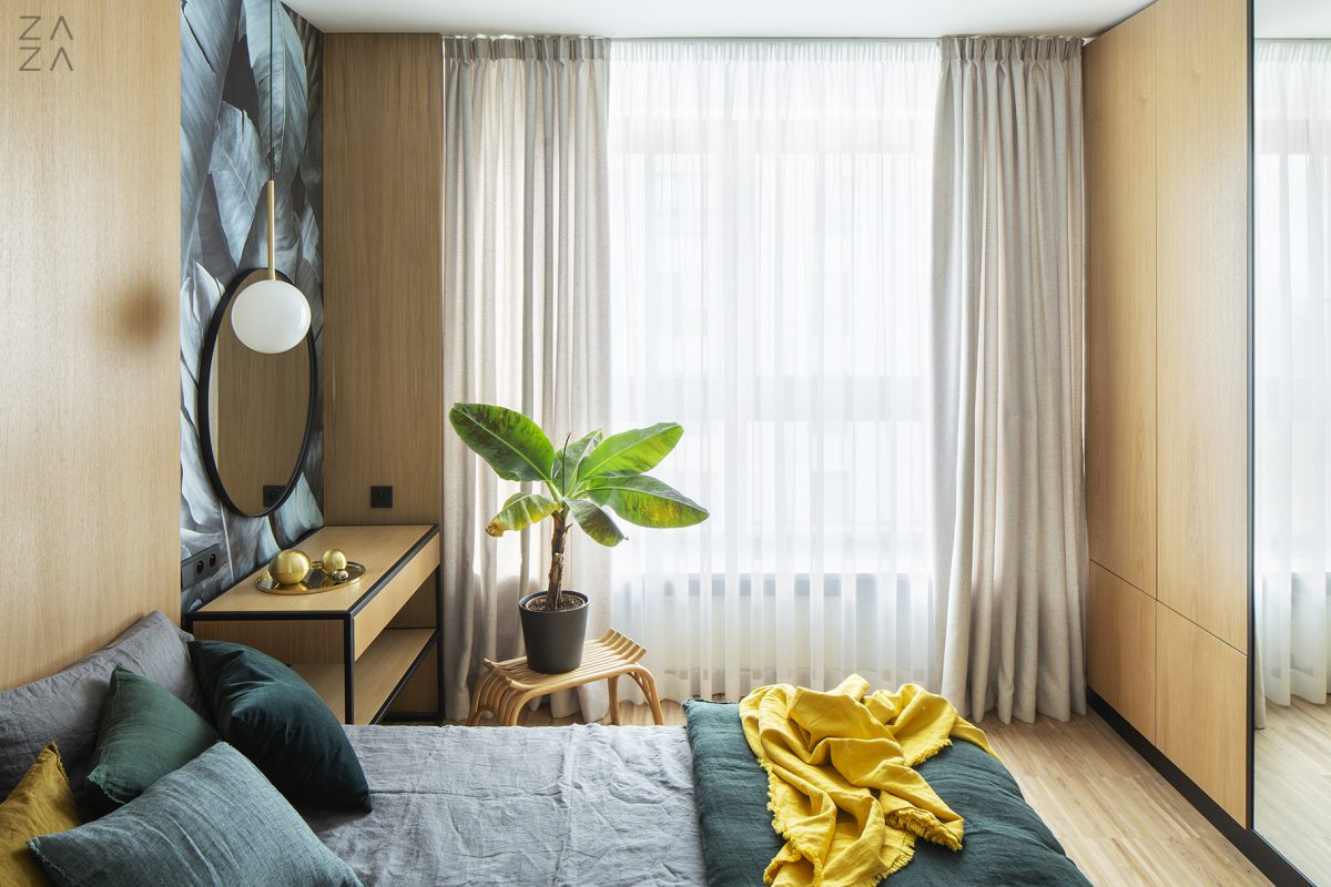 Przytulna sypialnia | proj. ZAZA studio, zdj. Marcin Grabowiecki, stylizacja: Michał Gulajski