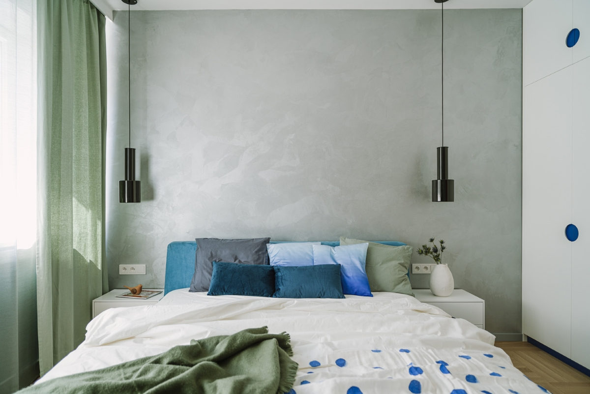 Sypialnia z charakterem z wykorzystaniem pastelowych kolorów | proj. Dziurdzia Projekt, zdj. PION