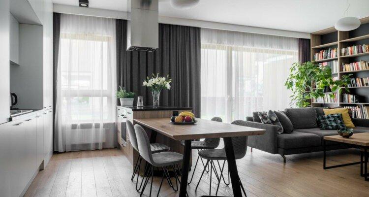 Apartament na Bielanach w Warszawie | proj. Jacek Tryc