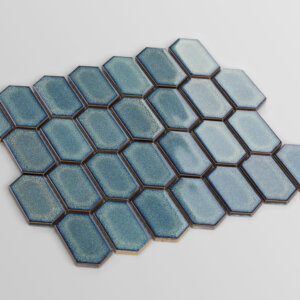 Mozaiki Raw Decor Heksagon Adriatyk, SZKLIWIONY