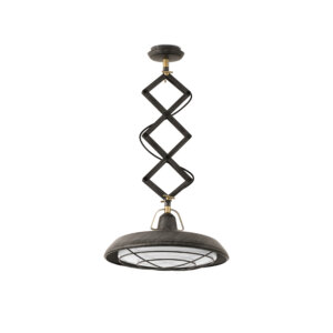 Lampa Faro PLEC LED Old brown extensible pendant lamp