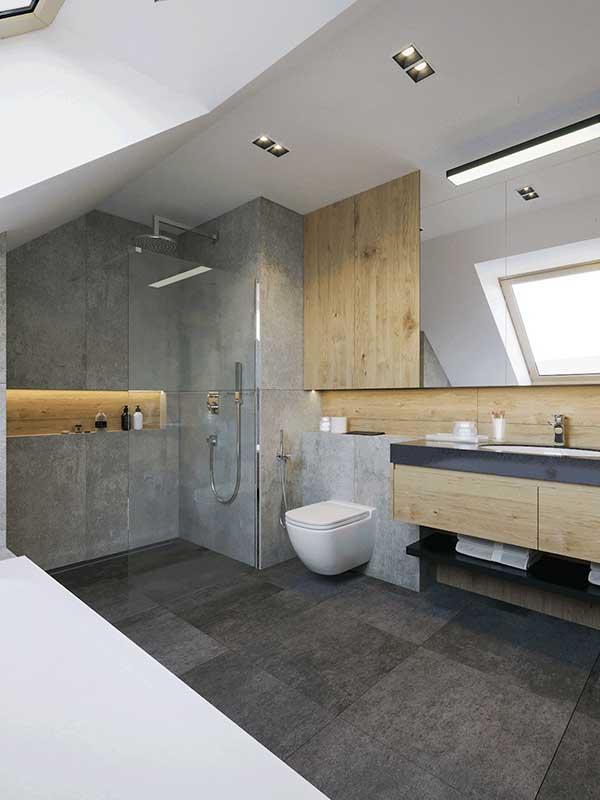 Łazienka rodziców | proj. Motyw Design