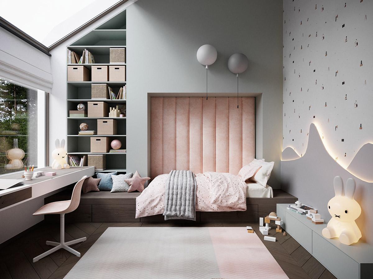 """Niesamowity pokój dziecka z lampami """"balonami"""" od czeskiej marki Brokis, które możecie kupić w naszych showroomach"""