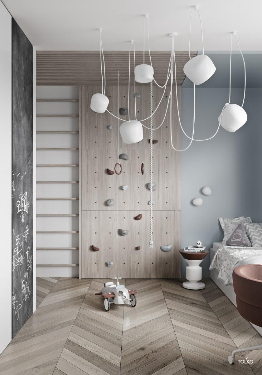 Lampy AIM od Flosa to doskonały wybór do wysokiego pokoju dziecka (produkt dostępny w naszych showroomach)