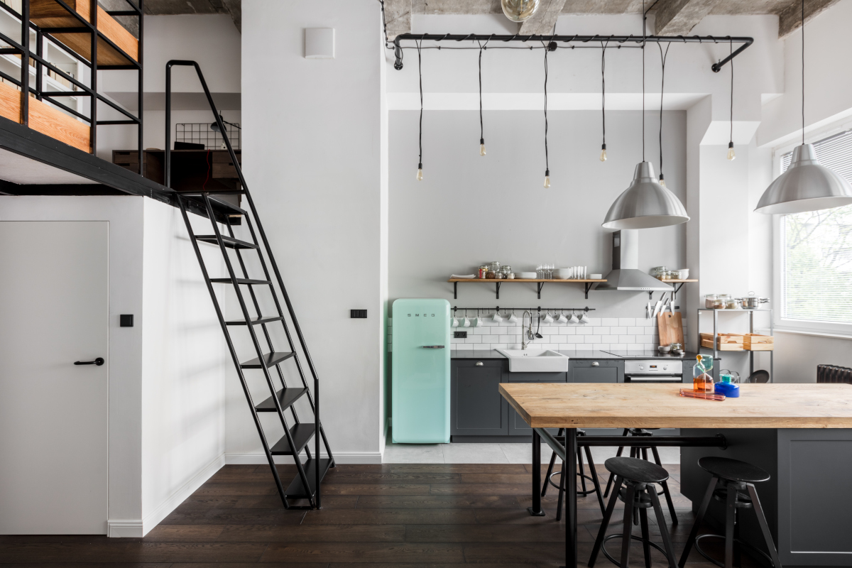 Mieszkanie w starym lofcie | proj. Lokal Studioa