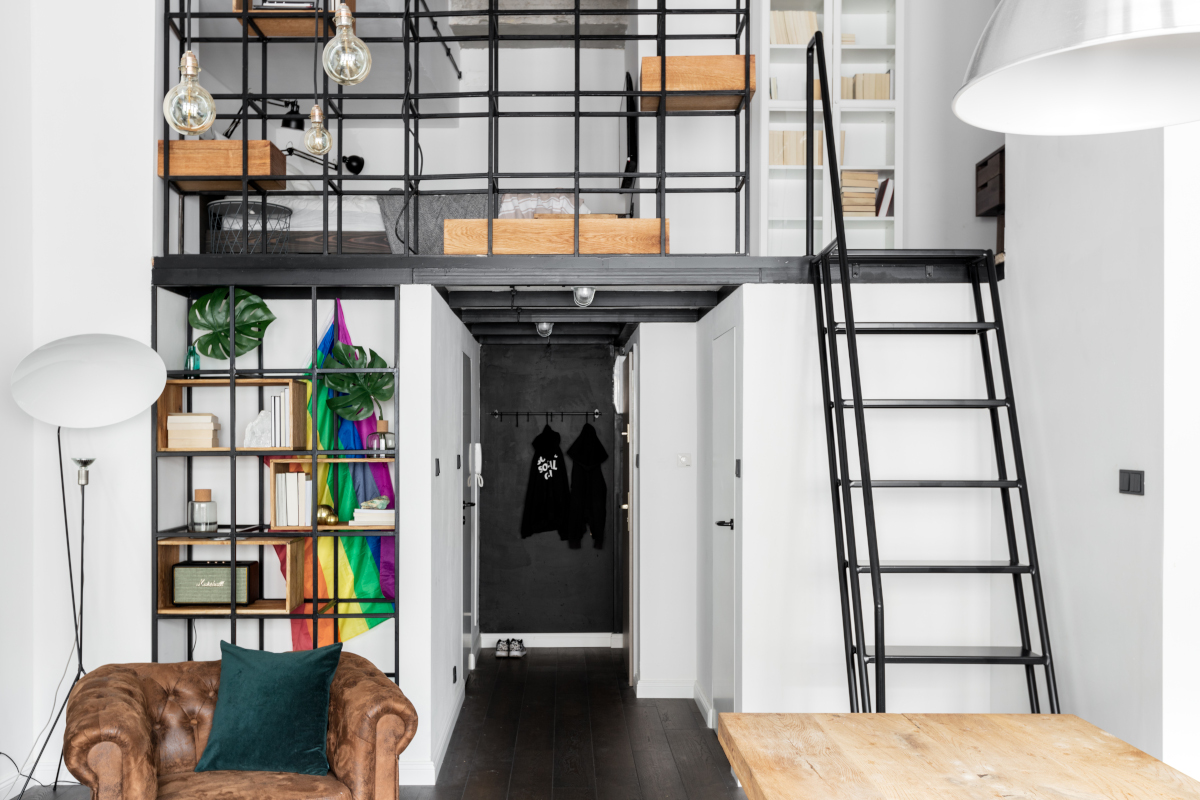 Mieszkanie w eklektycznym stylu w lofcie   proj. Lokal Studio