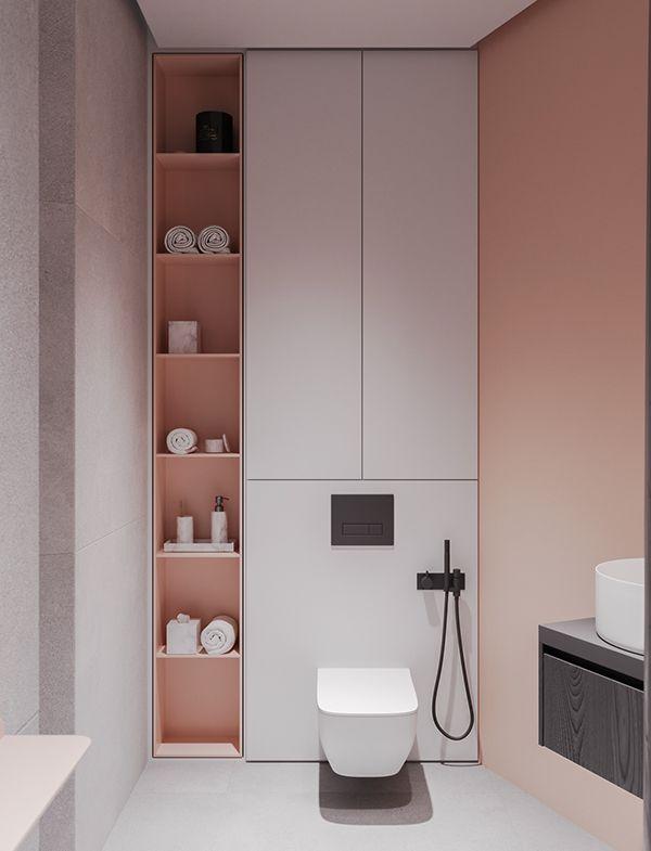 Pastelowa strefa wc