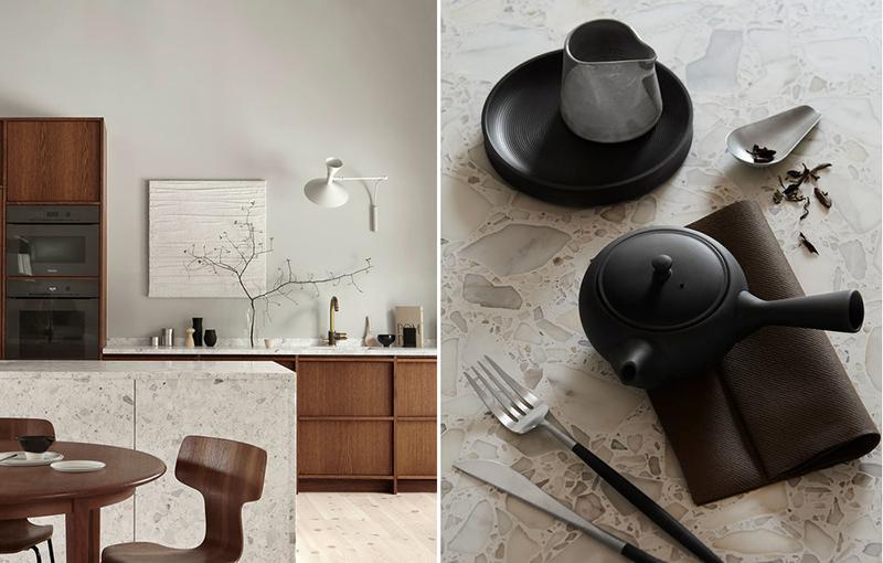 Lastryko w minimalistycznej kuchni