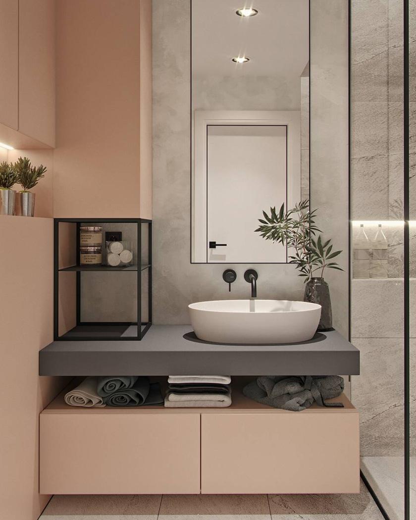 Toaleta w pastelowych kolorach