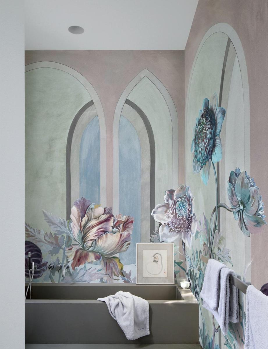 Pomysł na łazienkę z tapetą
