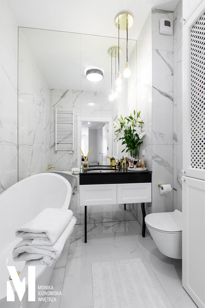 Aranżacja małej łazienki | proj. Monika Idzikowska Wnętrza