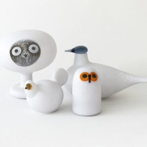 Lampy stołowe Magis z kolekcji Linnut by Oiva Toikka