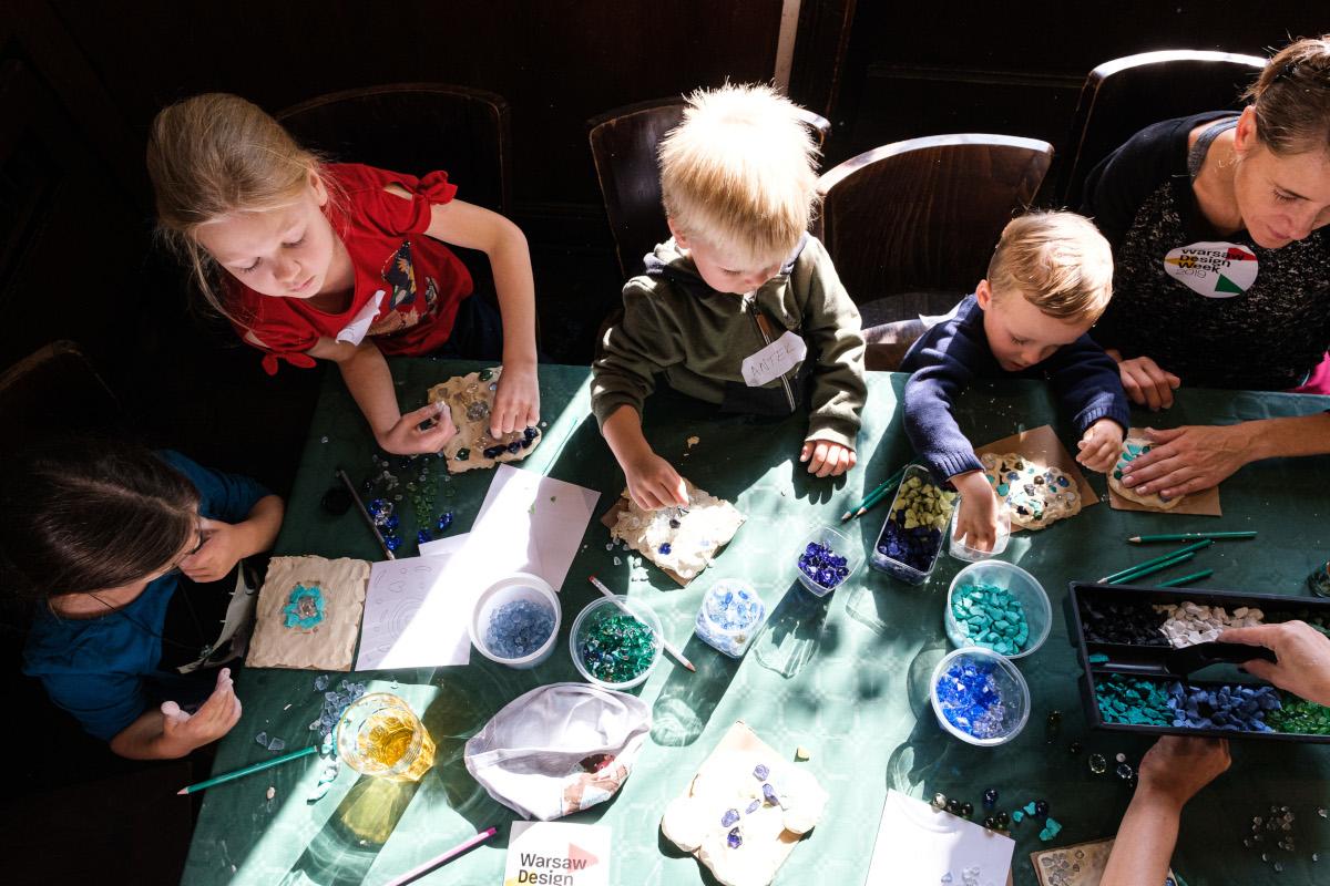 Warsztaty dla dzieci zorganizowane przy współpracy z Pawilonem Zodiak