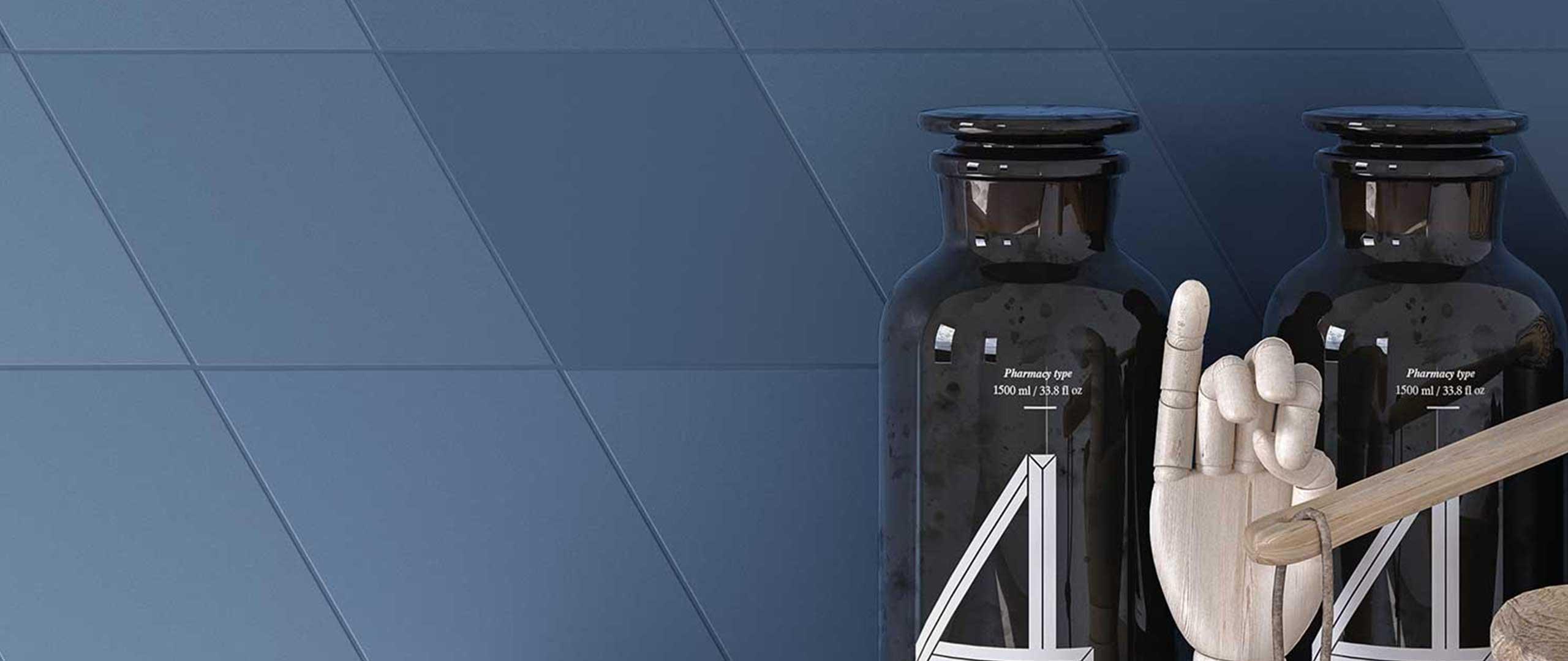 Granatowe płytki Wow Design Flow dostępne w Internity Home i Prodesigne