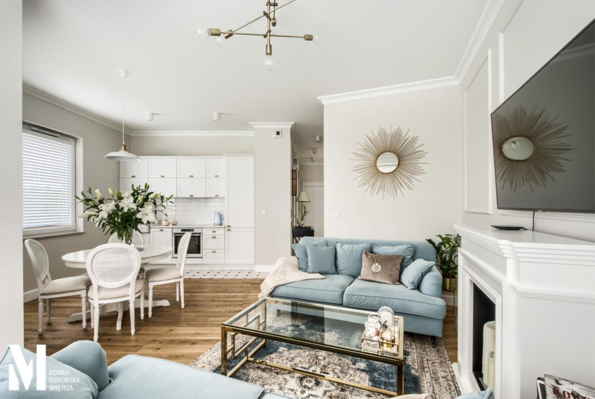 Bardzo gustowne 63 – metrowe mieszkanie z piękną garderobą | proj. Monika Idzikowska Wnętrza