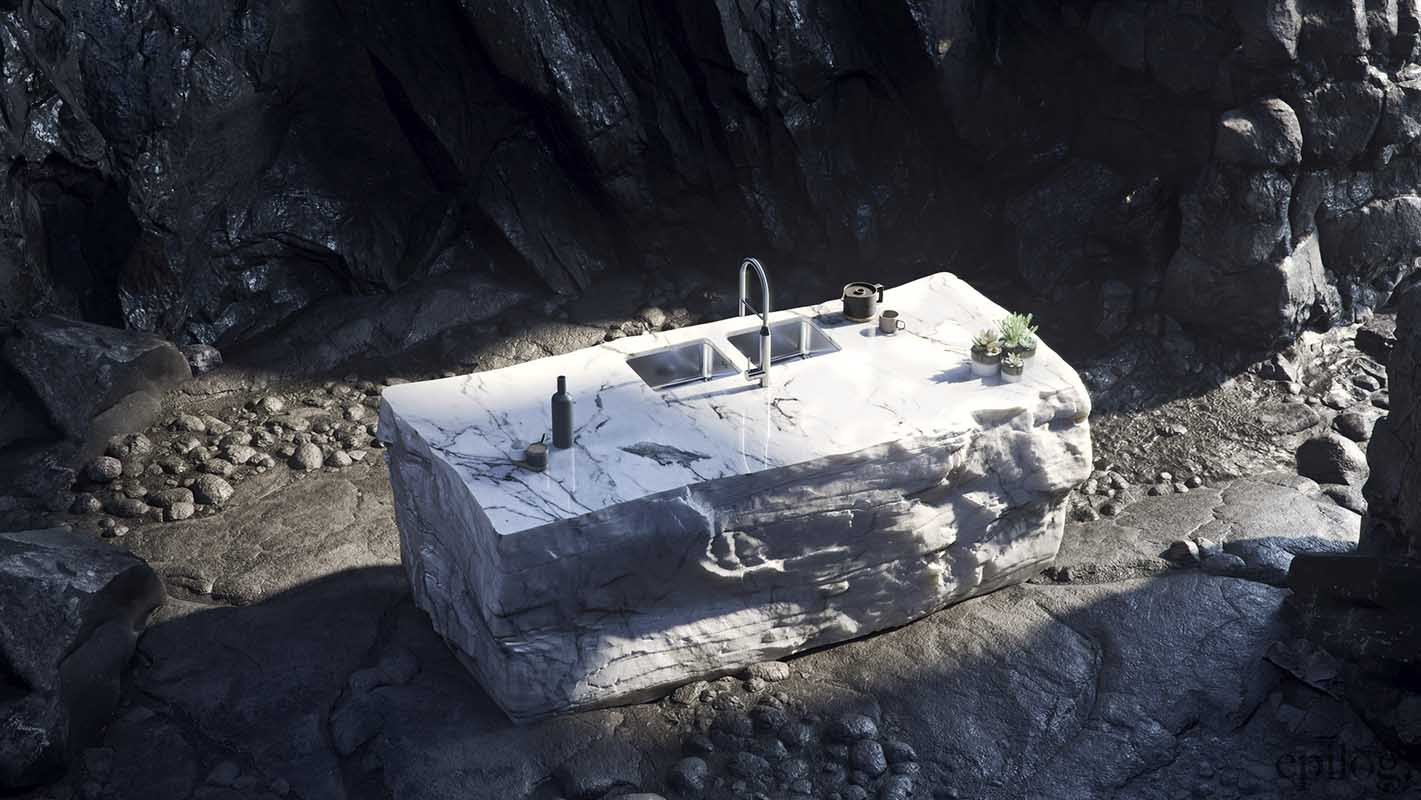 Jaskiniowy czarny / biały
