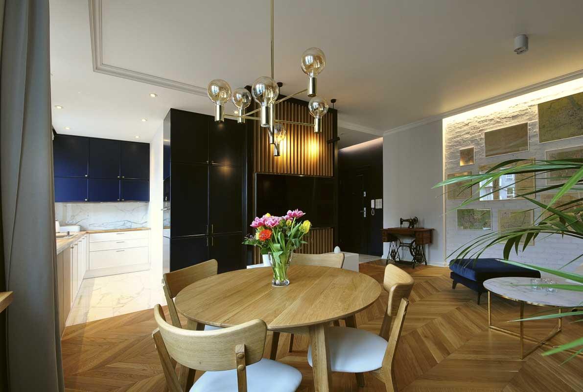 Metamorfoza mieszkania w kamienicy - wnętrze stworzone od zera | proj. Piotr Stolarek – Projektowanie wnętrz