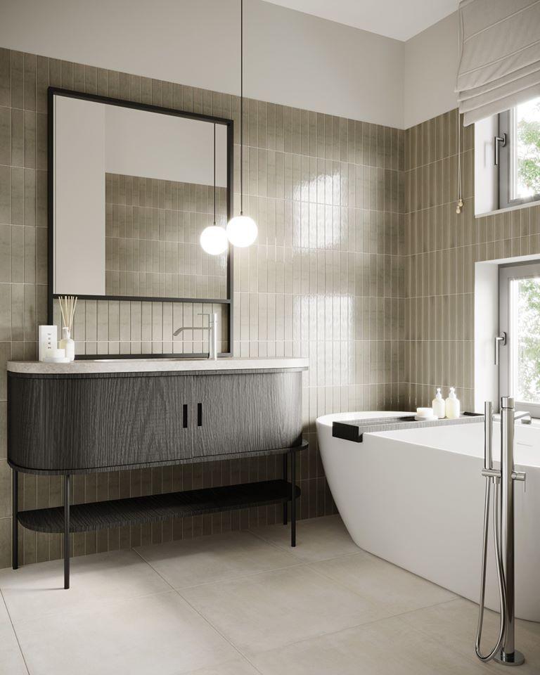Łazienka zaprojektowana przez pracownię architektoniczną OIKOI