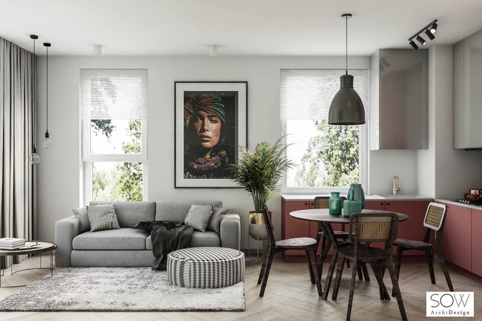 SOW Archi Design Kuchnia  Salon