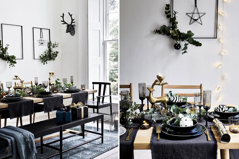 Propozycja nakrycia stołu na Boże Narodzenie | źródło: Pinterest
