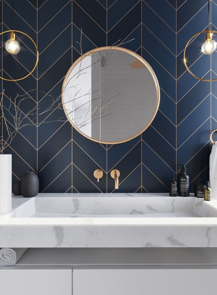 Classic blue nabiera jeszcze bardziej wyrafinowanego charakteru w towarzystwie złota i marmuru