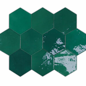 Płytki Wow Design kolekcja Zellige Hexa seria EMERALD