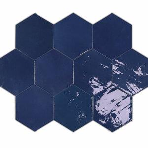 Płytki Wow Design kolekcja Zellige Hexa seria Cobalt