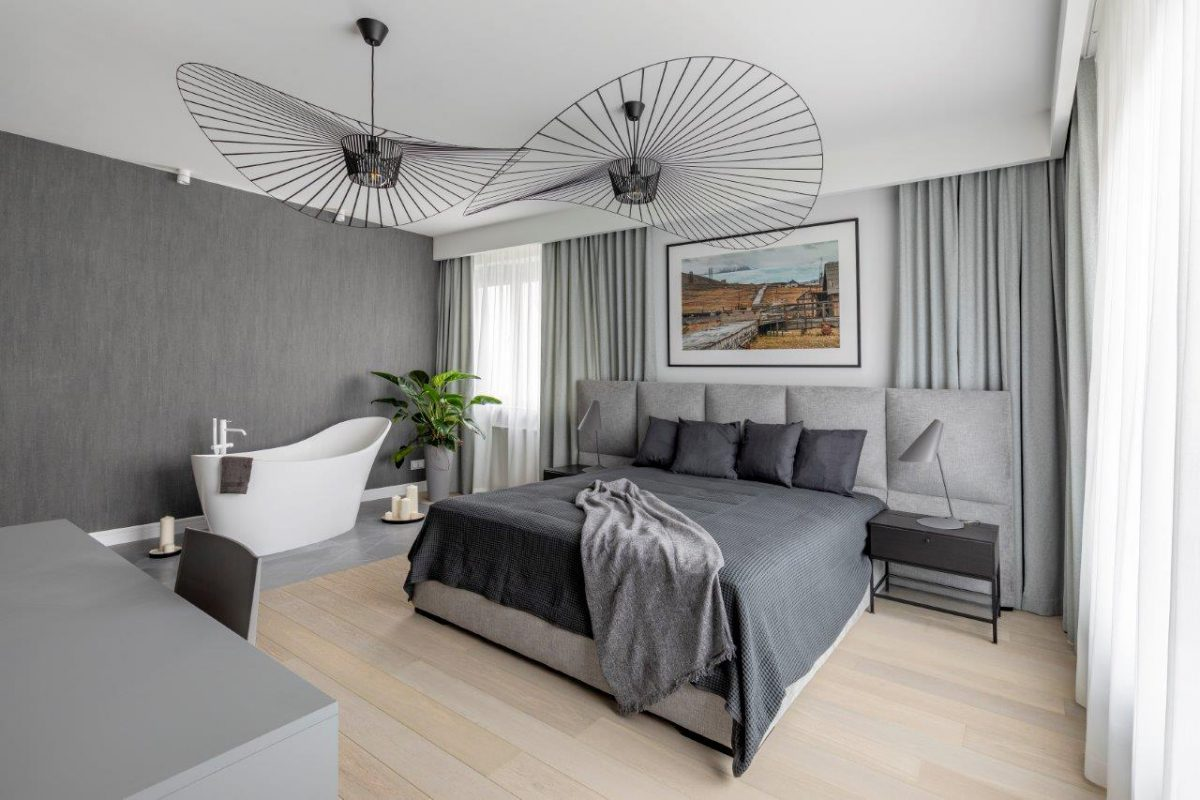 Apartament na Szczęśliwicach, projekt Jacek Tryc