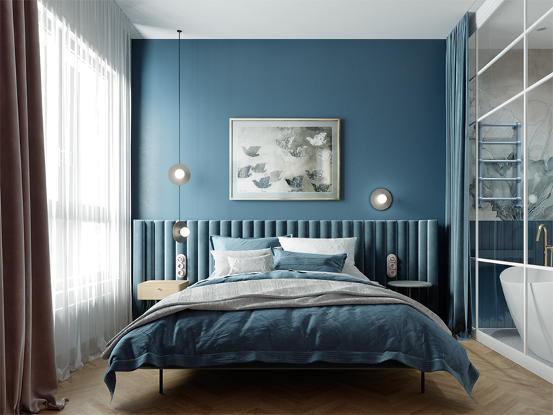 Sypialnia w kolorze Classic Blue