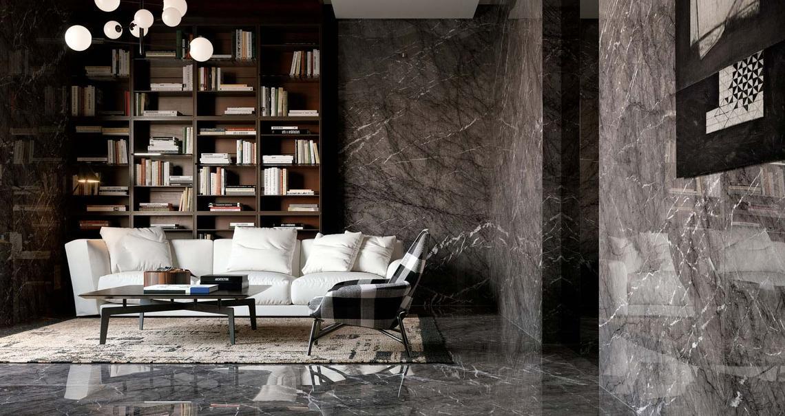 GRANDE MARBLE LOOK GRIGIO CARNICO LUX RETTIFICATO 160x320 cm