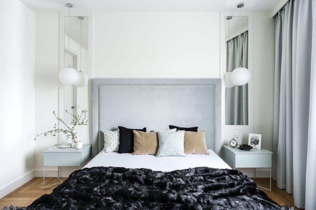Sypialnia w subtelnych pastelach | proj. Mana Design, zdj. Fotomohito
